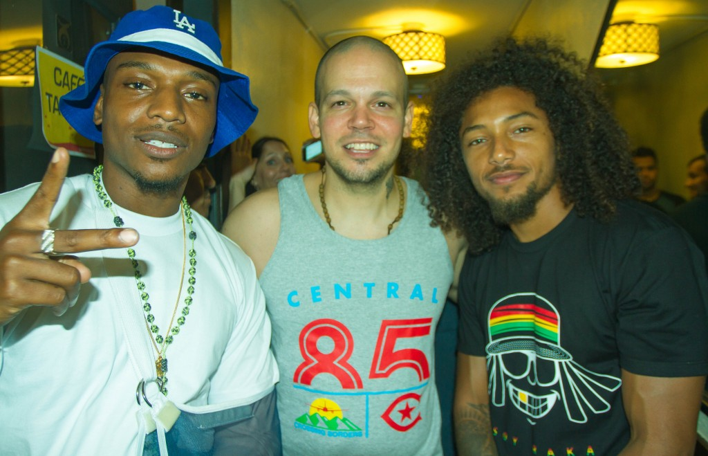 Los Rakas & Rene from Calle 13 in Los Angeles, October 2014